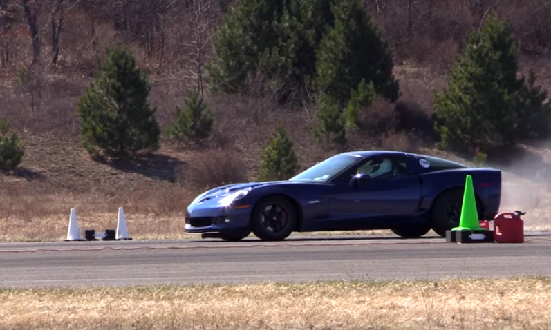 [VIDEO] 1,000 HP Corvette Z06 Catches Fire after 180 MPH Half Mile Run