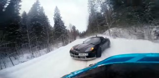 [VIDEO] A Corvette and Supra Go Drifting in the Snow in Russia