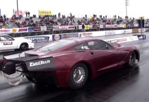 [VIDEO] 4,000 HP Corvette with a Hemi Twin Turbo at the Track