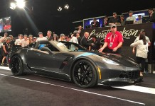 First VIN 001 2017 Corvette Grand Sport Collector's Edition Sells for $170,000