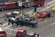 [ACCIDENT] Corvette Stingray Damaged in Four Vehicle Crash in California