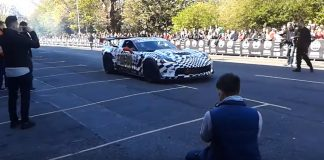 [VIDEO] Corvette Z06 C7.R Edition Does Burnouts with Gumball 3000 in Dublin