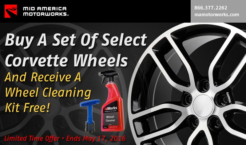 Buy a Set of Corvette Wheels at Mid America Motorworks and Get a Free Cleaning Kit