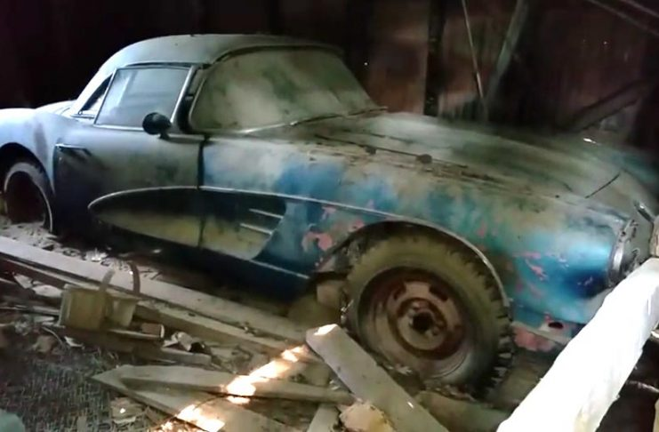 [VIDEO] 1958 Corvette Discovered in an Old Canadian Barn