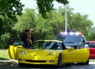 [VIDEO] Package Thief Driving a Yellow Corvette Arrested in San Antonio