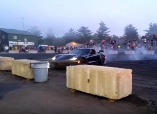 [VIDEO] Corvette Z06 Crashes During Donut Attempt at Automotion 2016