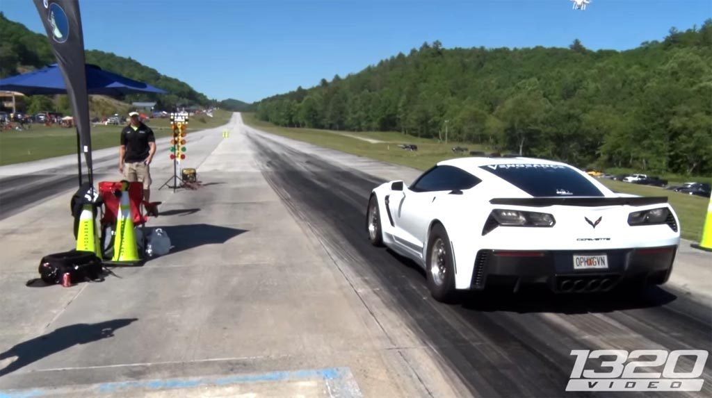 [VIDEO] C7 Corvette Z06 from Vengeance Racing Sets Half Mile Speed Record