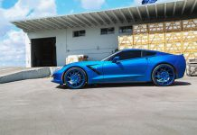 [PICS] Laguna Blue Corvette Stingray on Blue Forgiato Wheels