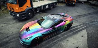 [VIDEO] Release Your Inner Unicorn in this Rainbow Wrapped Corvette by BBM Motorsport