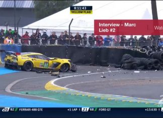 [PICS] Tommy Milner and No. 64 Corvette C7.R Crash at Le Mans