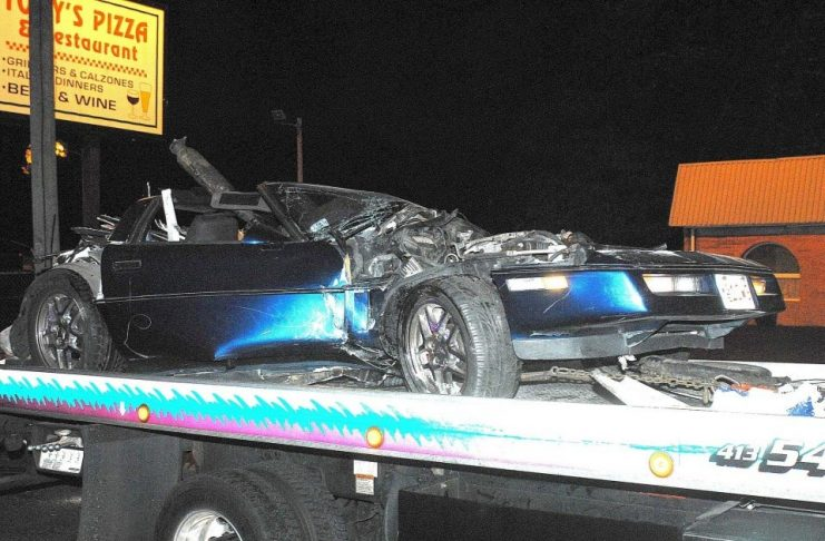 [ACCIDENT] C4 Corvette Hits Utility Pole in Massachusetts