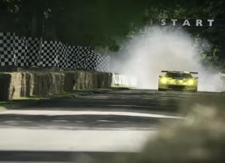 [VIDEO] Oliver Gavin's Massive Corvette C7.R Burnout at the Goodwood Festival of Speed