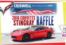 Criswell Chevrolet 2016 Corvette Stingray Raffle to Benefit Patty Pollatos Fund