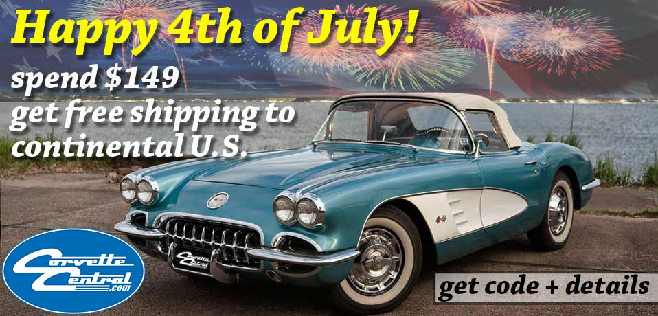 Have a Happy Fourth of July with Free Shipping from Corvette Central