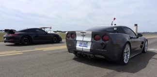 [VIDEO] Corvette ZR1 vs Porsche GT3 in Multiple Runs at the Battle Creek Speedfest