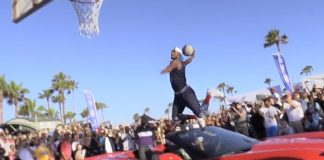[VIDEO] Chris Staples Jumps a Corvette Stingray and Slam Dunks a Basketball