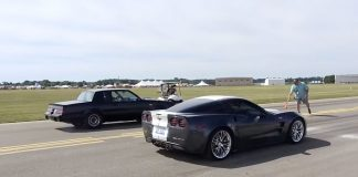 [VIDEO] Corvette ZR1 Vs Buick Grand National at the Battle Creek Speedfest Half Mile