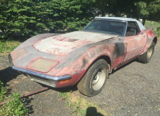 Corvettes on eBay: Garage Find 1971 Corvette LT1 Convertible