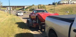[STOLEN] 1976 Corvette Placed on a U-Haul is Recovered in Calgary