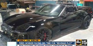 Arizona Police Arrest Man For Scratching Ex-Boss's Corvette