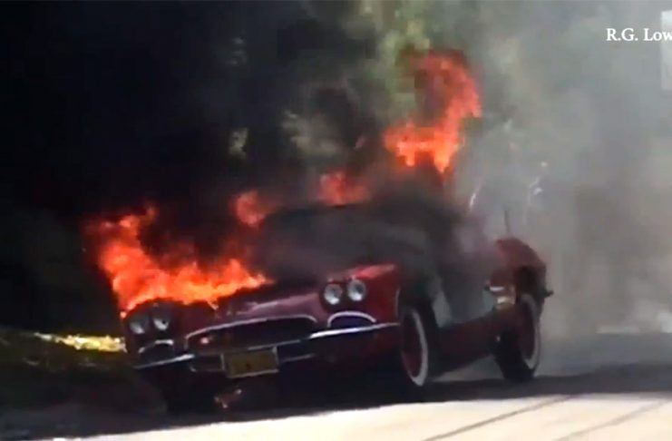 [VIDEO] Classic C1 Corvette Burns in L.A.