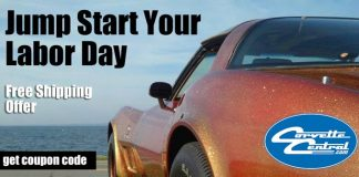 Jump Start Your Labor Day Weekend with Free Shipping from Corvette Central
