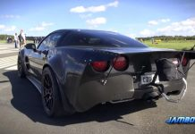 [VIDEO] 1500 HP Twin Turbo C6 Corvette Clocks 204 MPH at Finland Airport
