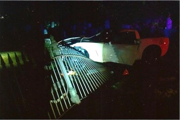 [ACCIDENT] C6 Corvette Crashes Through Historic Salem Cemetery Fence