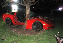 DUI Ohio Man Crashes C6 Corvette and Bails on Trapped Female Passenger
