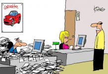 Saturday Morning Corvette Comic: Workplace Distractions