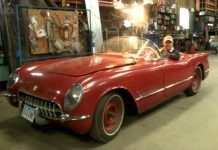 1954 Corvette Returns to the Street After 40 Year Slumber