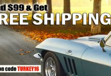 Give Thanks for Free Shipping at Corvette Central