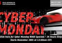 Visit Mid America Motorworks for Cyber Monday BOGO Specials