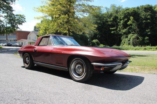 Corvettes on eBay: Two-Owner 1967 Corvette Convertible Barn Find