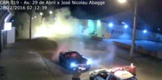 [VIDEO] Corvette Driver Arrested in Brazil After a Donut in Street Attracts the Police