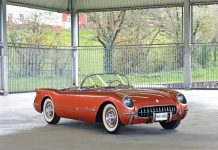 An American In Paris: Rare Copper 1955 Corvette to be Offered by RM Sothebys
