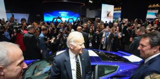 [PICS] Vice President Joe Biden Checks Out the Corvettes at NAIAS 2017