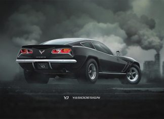 [PIC] A Retro Corvette Stingray Rendered with a Touch of Camaro