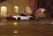 [ACCIDENT] C7 Corvette Takes Out a Light Pole in Vegas Crash