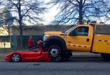 [ACCIDENT] Atlanta City Truck Rolls On Top a 1998 Corvette