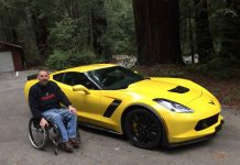 Disabled Marine Corp Veteran Drives a C7 Corvette Z06 with Hand Controls