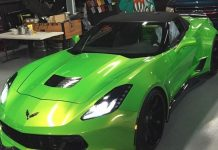 [PICS] Chris Brown's New Widebody C7 Corvette on a Collision Course with Destiny