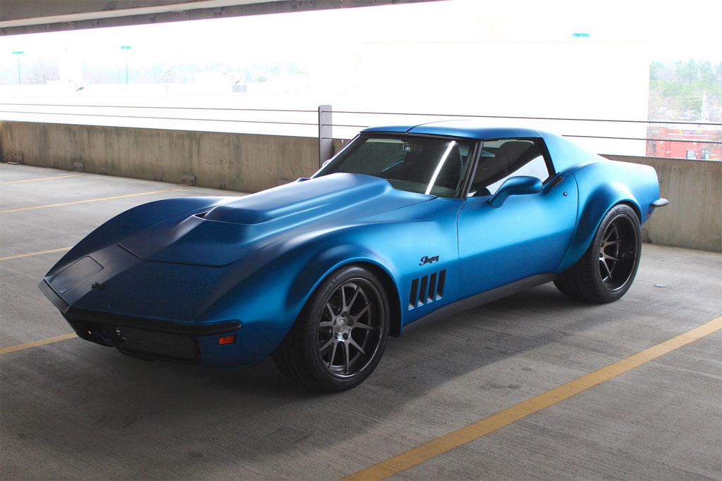 Pics Matte Blue 1969 Corvette Stingray On Forgeline