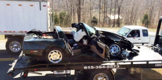 [ACCIDENT] C4 Corvette Involved in Head-On Collision with Pickup Truck