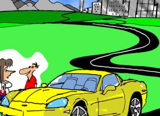 Saturday Morning Corvette Comic: Parkophobia. The Struggle is Real!
