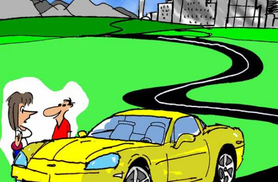 Saturday Morning Corvette Comic: Parkophobia. The Struggle is Real!