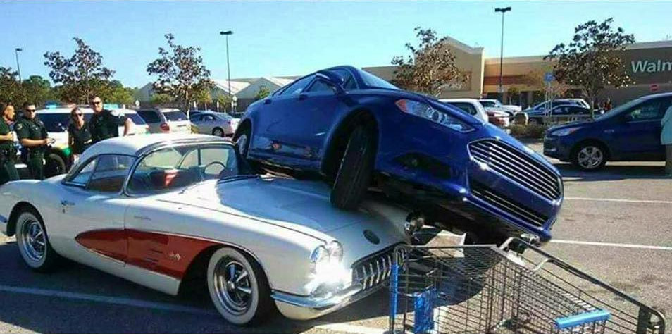 Road Runner Auto Sales >> [ACCIDENT] Scorned Wife Parks Ford on Cheating Husband's 1958 Corvette at Walmart - Corvette ...