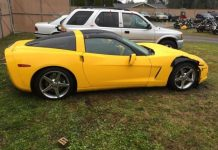 Police Searching for Driver of a Yellow Corvette After Hit and Run Crash with Motorcyclist