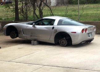 [STOLEN] Memphis Firefighter has Wheels Stolen from C6 Corvette While on Emergency Call