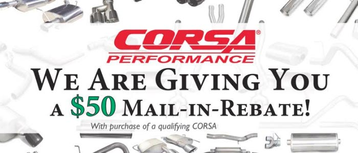 Zip Corvette Parts Offering $50 Rebate on CORSA Exhaust Systems
